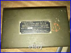 Usmc Military Radio Telegraph Set Tg-5-b Serial Number 1 Allen Cardwell Mfg. Corp