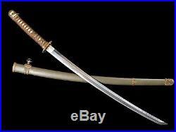 VERY NICE JAPANESE ARMY SHIN GUNTO OFFICER SWORD STAR STAMPED