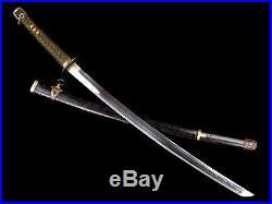 VERY NICE JAPANESE WAR TIME KAI GUNTO NAVAL OFFICER SWORD