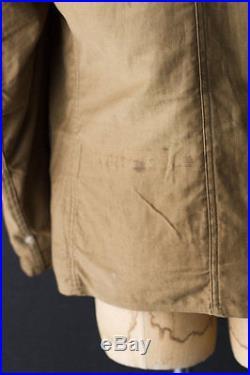VINTAGE PRE-WWII 1930s USN TRANSPORT COAT SHEEPSKIN HORSEHIDE MOLESKIN TWILL