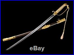 Very Nice Japanese Naval Officer D-guard Sword Pattern 1883 With Knot