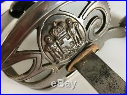 Very Rare pre WWII GREEK MILITARY SWORD, p. 1926, Solingen, Kingdom of Greece