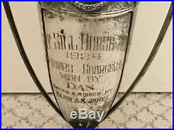 Vintage 1924 Fort Sill US Army Officers Horse Show Trophy Donated by Sunbeam ZET