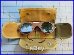 Vintage 1927 Nicaragua Managua US Marine Aviators Sun Glasses Goggles USMC