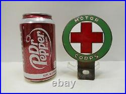 Vintage American Red Cross Motor Corps Vehicle Medallion with bracket. 1917-1920