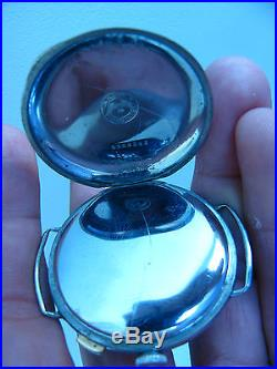 Vintage Military Pilots Longines Chronograph Steel 1 Button Wristwatch Cal. 154