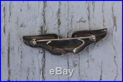 Vintage Original 1920s USAF Airship Pilots Wings Sterling Silver