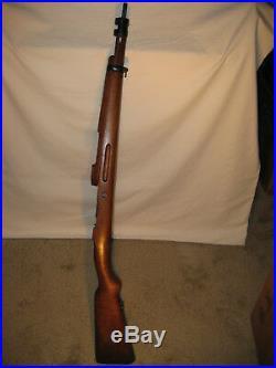 Vintage Spanish Mauser Model 43 M43 Solid Wood Rifle Stock Handguard & Bands
