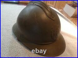 WW1 BELGIAN ADRIAN HELMET LION HEAD With LINER M15