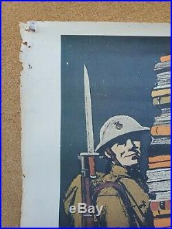 WW1 Books Wanted Recruiting Poster Military Book Club ORIGINAL