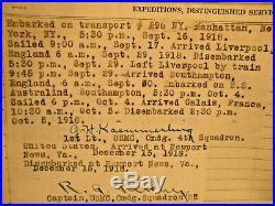 WW1 USMC Good Conduct, Northern Bombing Group, Ser. Rec. + Aviation Victory, NR
