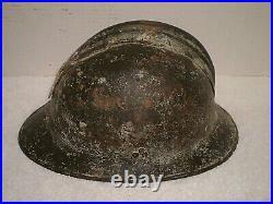 WW1 or WW2 Polish adrian helmet with badge, liner, chinstrap