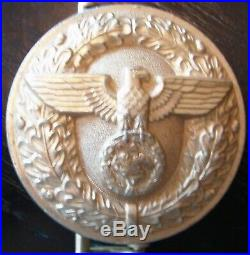 WW2 German Political Leader's Belt Buckle Original & Authentic WWII RZM Marked