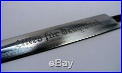 WW2 German dagger bayonet knife political dress rzm blade sword scabbard early