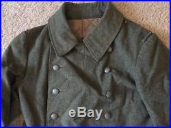 WW2 german enlisted fieldgrey wool overcoat 1940 dtd no shoulder boards