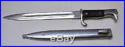 WWI German Butcher Bayonet Move-Werke Walter & Co. Muhlhausen in Thr & scabbard