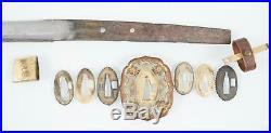 WWII Imperial Japanese Koto Katana, 17century blade, colonel tassel, silver Kamon