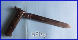 WWII Italian 1938 Series Folding Bayonet Mannlicher-Carcano M1938 Short Rifle