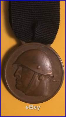 WWII Italian Fascist Medal CXL BATTAGLIONE CCNN MVSN