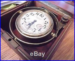 Waltham U. S. Navy Ship Deck Clock/Chronometer/Watch in Original Case Works