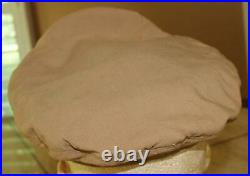 Ww II Usaaf Officer's Khaki Wool Visor Hat Large Eagle