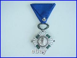 Yugoslavia Kingdom Order Of The Crown Knight Grade. Cased. Vf+