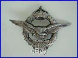 Yugoslavia Kingdom Pilot's Badge Medal. Rare! Vf+