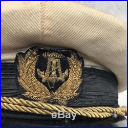 Yugoslavia Kingdom pre WWII NAVY officer visor Cap hat serbia old peaked naval