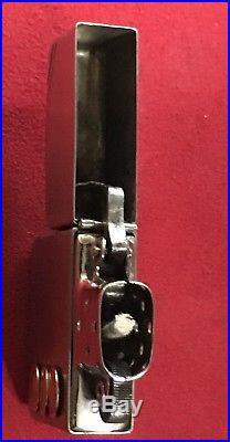 ZIPPO Vintage 1936-37 Art Deco Pat # 2032695 w Original Insert, 4 BBL