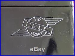 Zippo Rare 1936-37 Bell Aircraft Art Deco Pat# 2032695 4bbl w Original insert